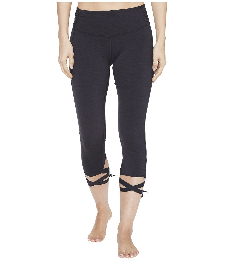 Manduka - Flux Tights (Black) Women's Shorts