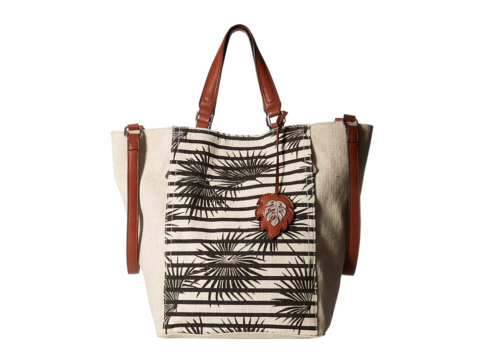 Tommy Bahama - Reef Convertible Tote (Striped Palm/Metallic Linen) Tote Handbags