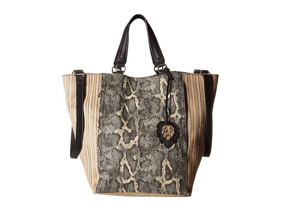 Tommy Bahama - Reef Convertible Tote (Snake/Striped Jute) Tote Handbags