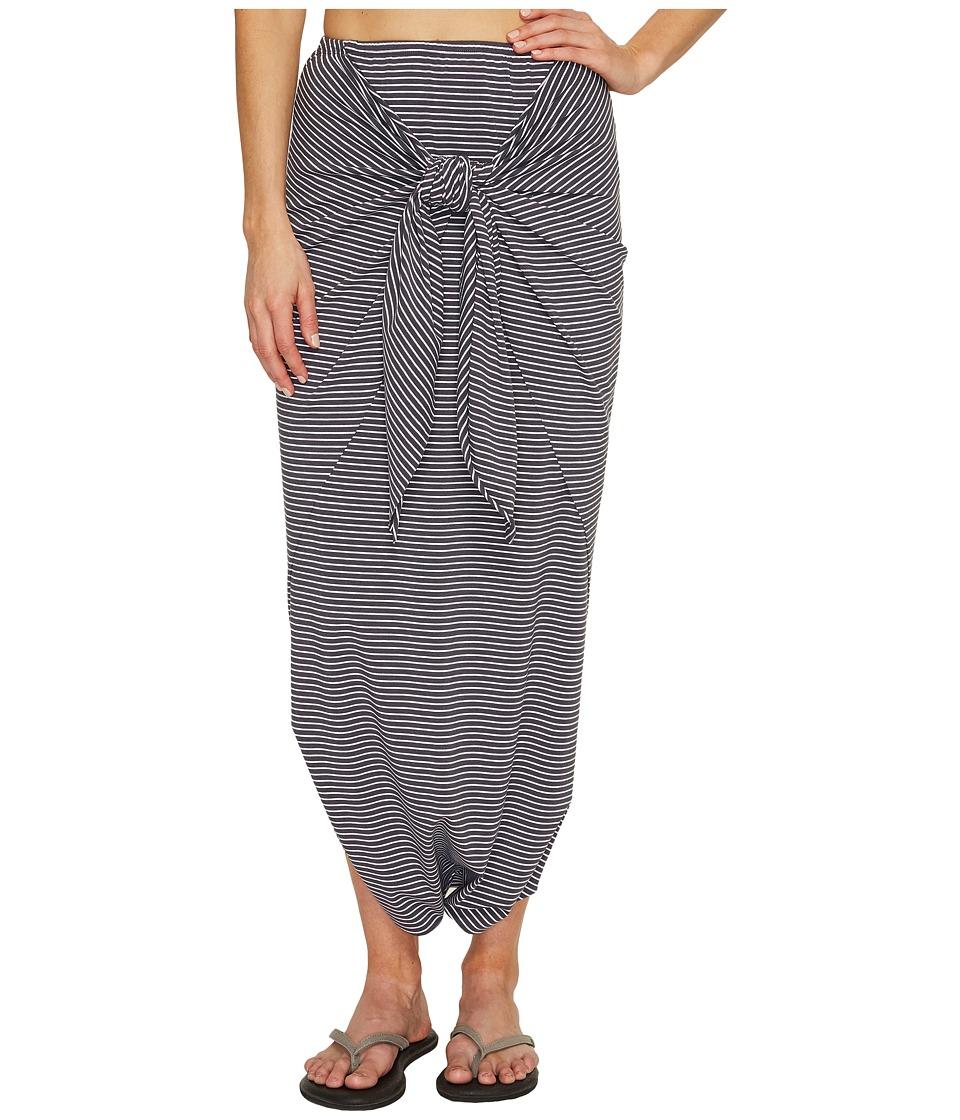 Manduka - Harem Wrap (White/Dark Grey Stripe) Women's Skirt