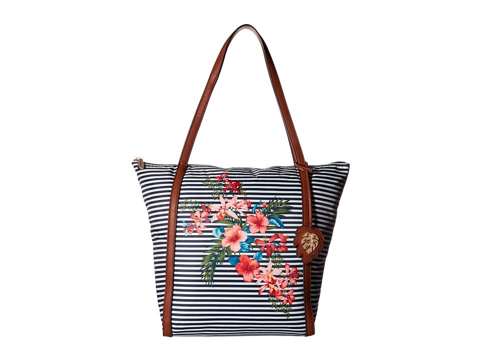 Tommy Bahama - Siesta Key Tote (Striped Floral) Tote Handbags
