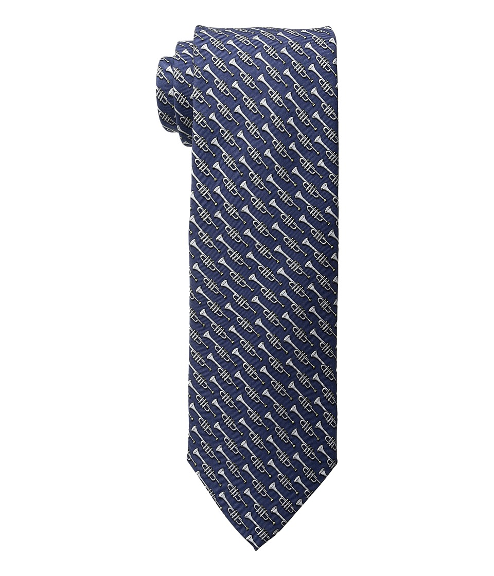 Vineyard Vines - Kentucky Derby Bugle Printed Tie (Navy) Ties