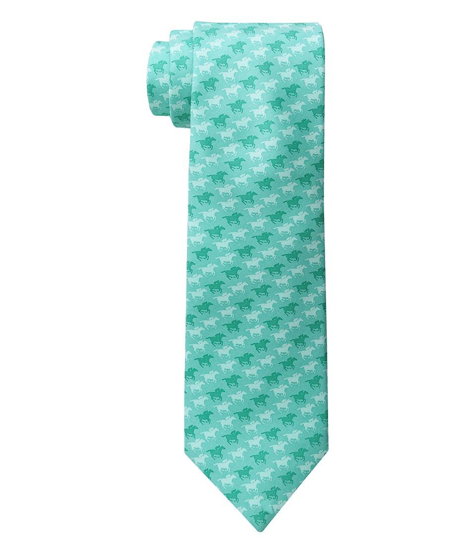 Vineyard Vines - Kentucky Derby Horse Race Printed Tie (Aquamarine) Ties