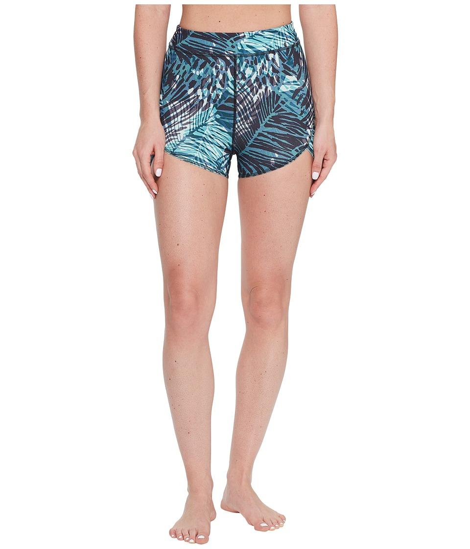 Manduka - Flux Shorts (Deep Palm Print) Women's Shorts
