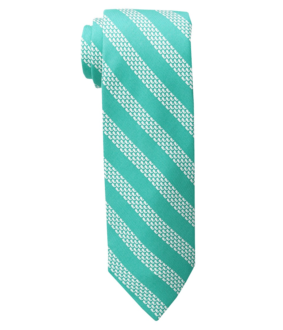 Vineyard Vines - Micro Whale Repp Stripe Tie (Antigua Green) Ties