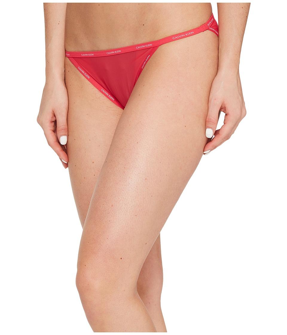 Calvin Klein Underwear - Sheer Marquisette String Bikini (Sultry) Women's Underwear