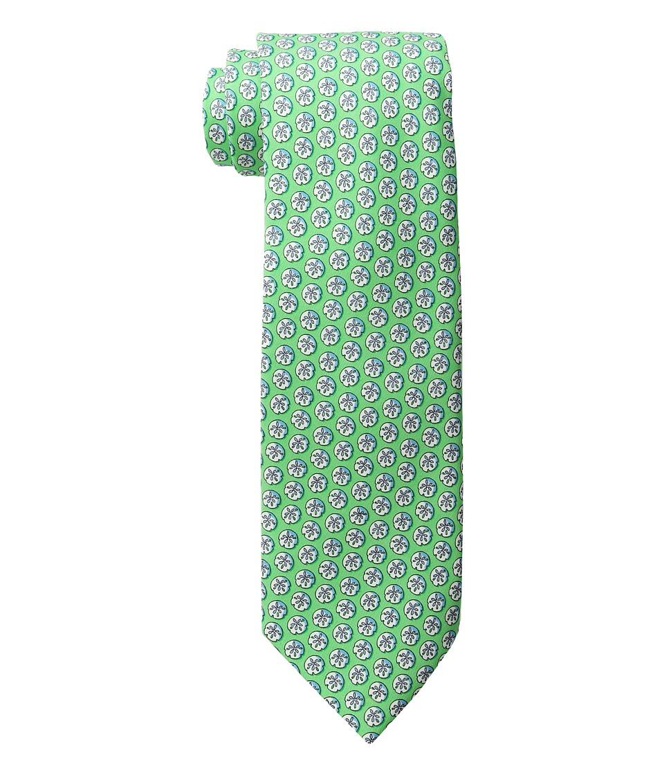 Vineyard Vines - Sand Dollar Printed Tie (Green Gecko) Ties