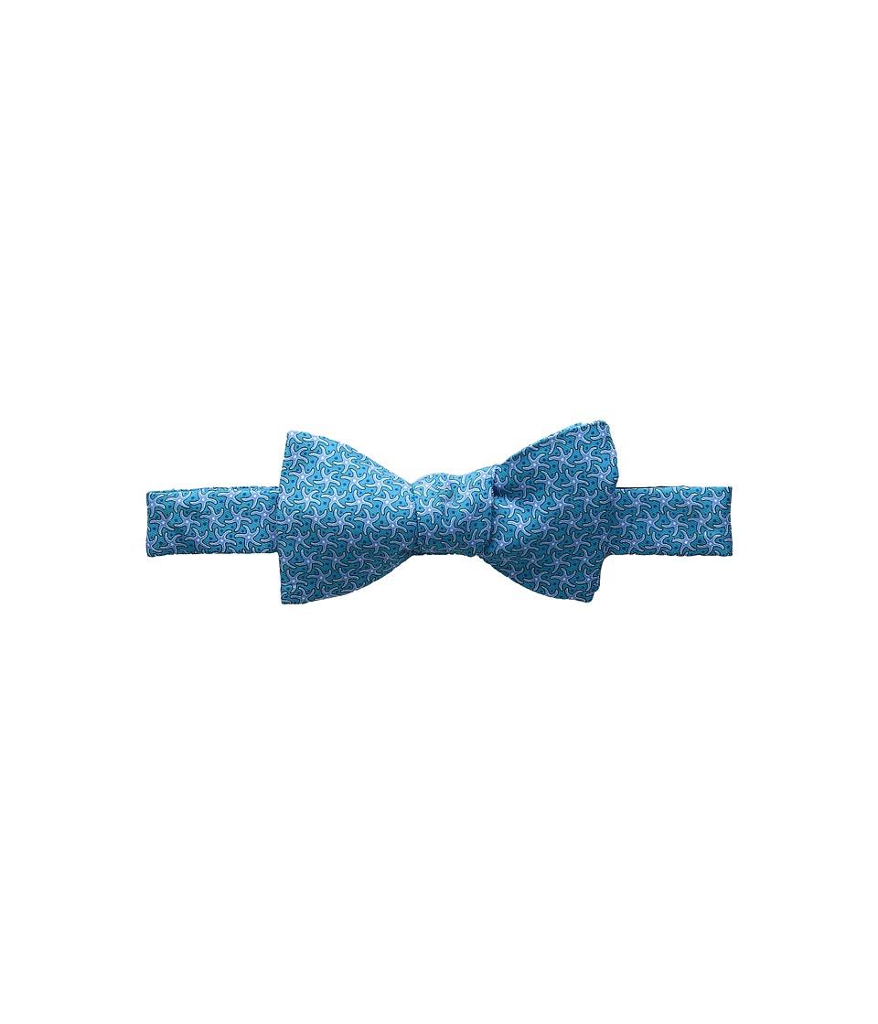 Vineyard Vines - Starfish Printed Bow Tie (Capri Blue) Ties