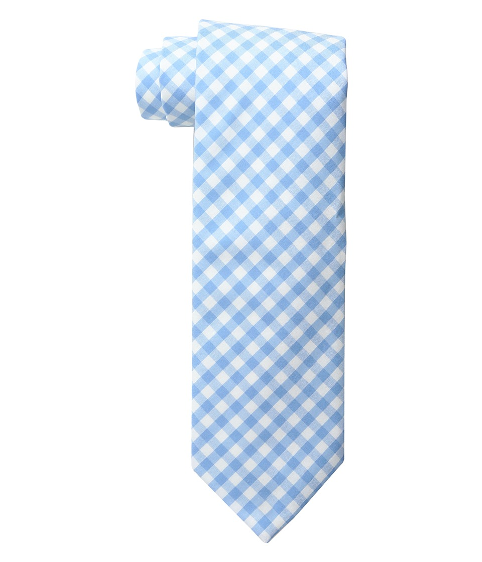 Vineyard Vines - Elmont Gingham Woven Tie (Ocean Breeze) Ties