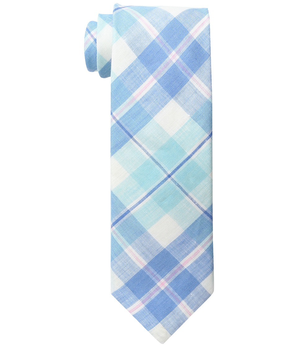 Vineyard Vines - Upper Bluff Plaid Woven Tie (Pool Side) Ties