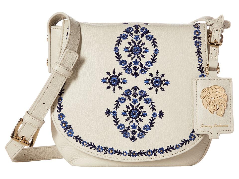 Tommy Bahama - LA Jolla Saddle Bag (White Sand) Handbags