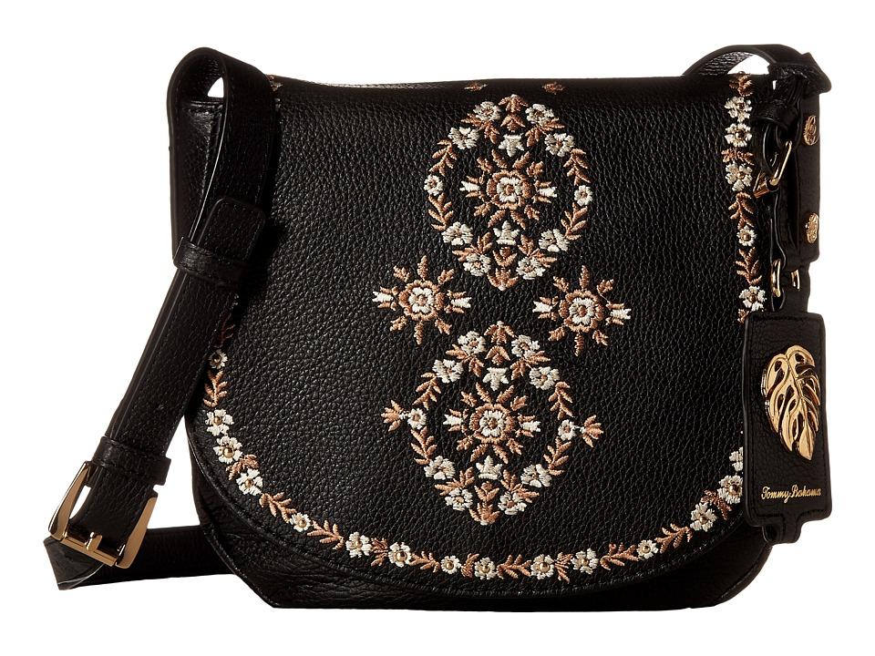 Tommy Bahama - LA Jolla Saddle Bag (Black) Handbags