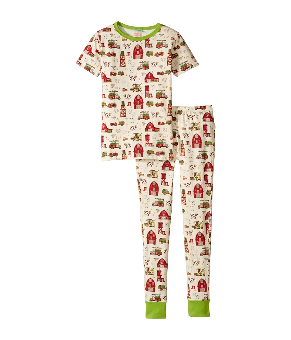BedHead Kids - Short Sleeve Long Pants Set (Big Kids) (On The Farm) Girl's Active Sets