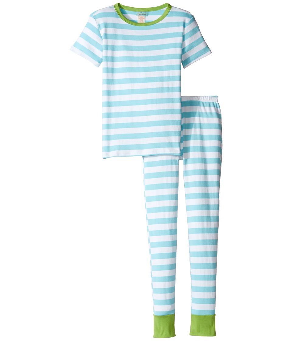 BedHead Kids - Short Sleeve Long Pants Set (Big Kids) (Malibu Stripe) Girl's Active Sets