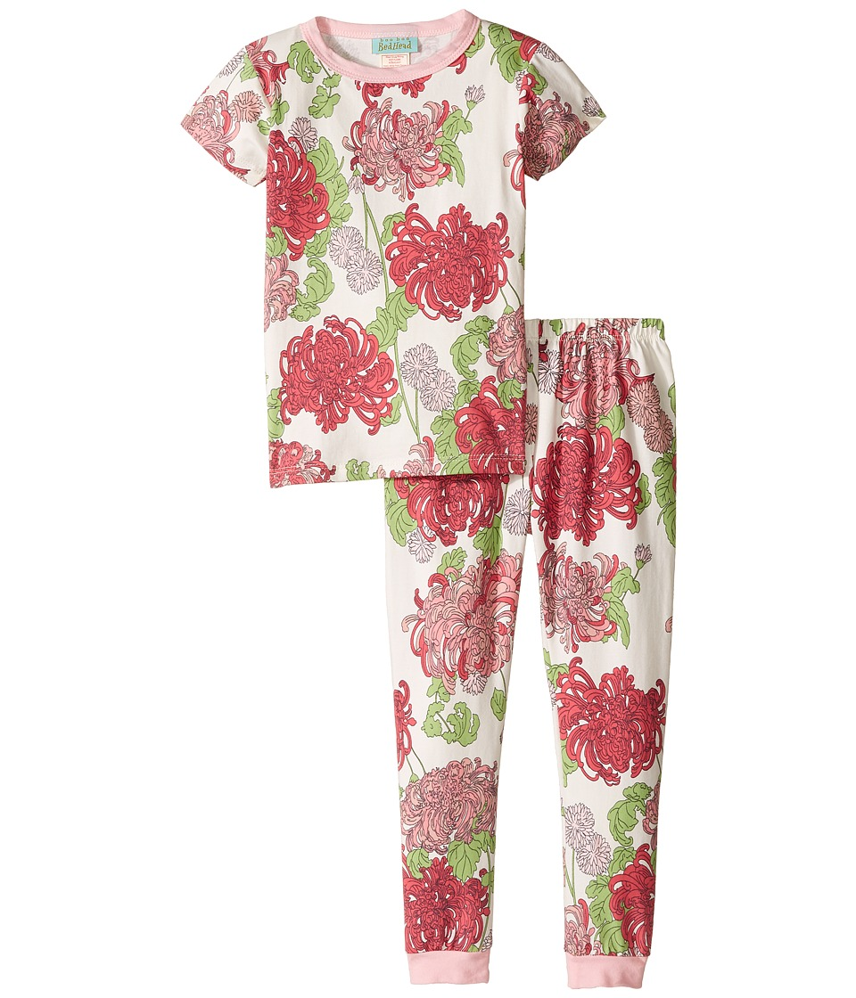 BedHead Kids - Short Sleeve Long Pants Set (Toddler/Little Kids) (Coral Mum's Favorite) Girl's Pajama Sets