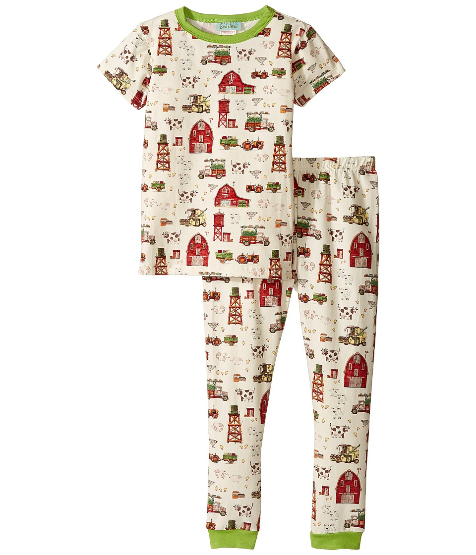 BedHead Kids - Short Sleeve Long Pants Set (Toddler/Little Kids) (On The Farm) Girl's Pajama Sets