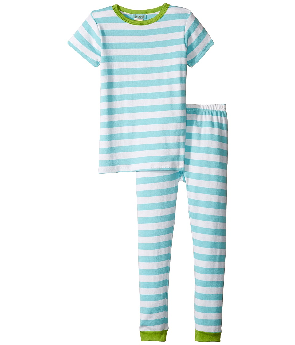 BedHead Kids - Short Sleeve Long Pants Set (Toddler/Little Kids) (Malibu Stripe) Boy's Pajama Sets