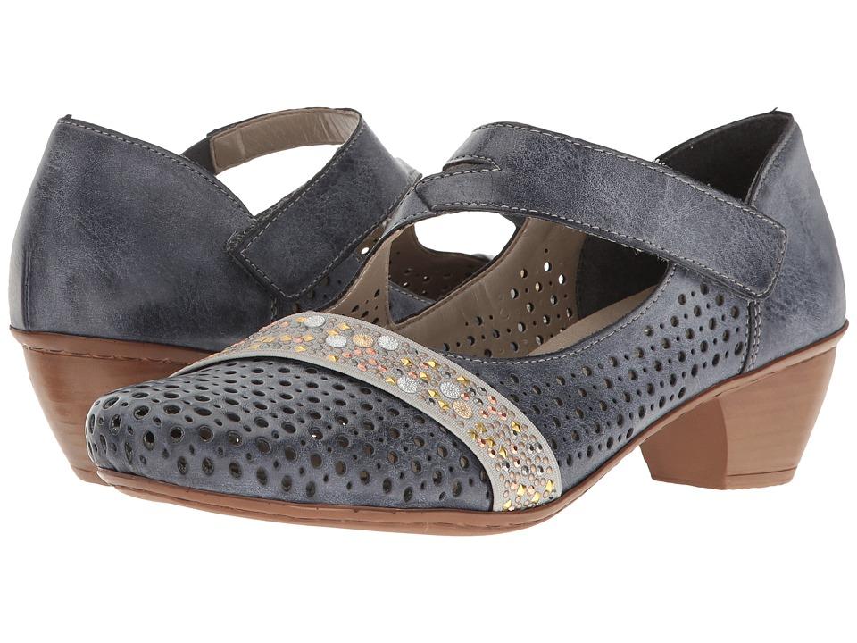 Rieker - 47645 Mariah 45 (Jeans/Grau) Women's Shoes