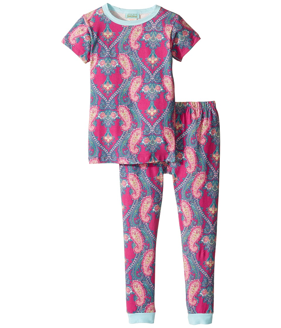 BedHead Kids - Short Sleeve Long Pants Set (Toddler/Little Kids) (Fuchsia Pashmina Paisley) Girl's Pajama Sets