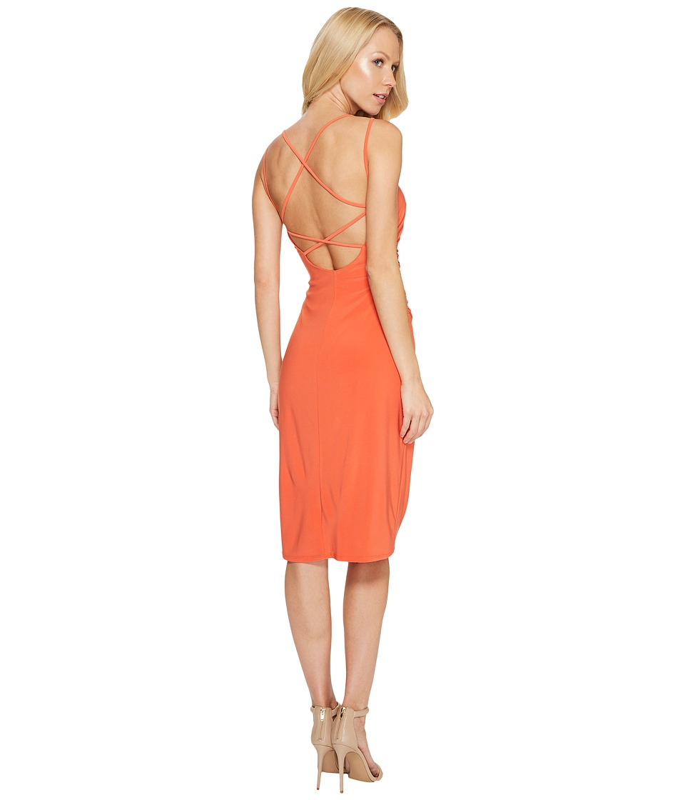 Laundry by Shelli Segal - Crisscross Back Spaghetti Strap Cocktail Dress (Paprika) Women's Dress