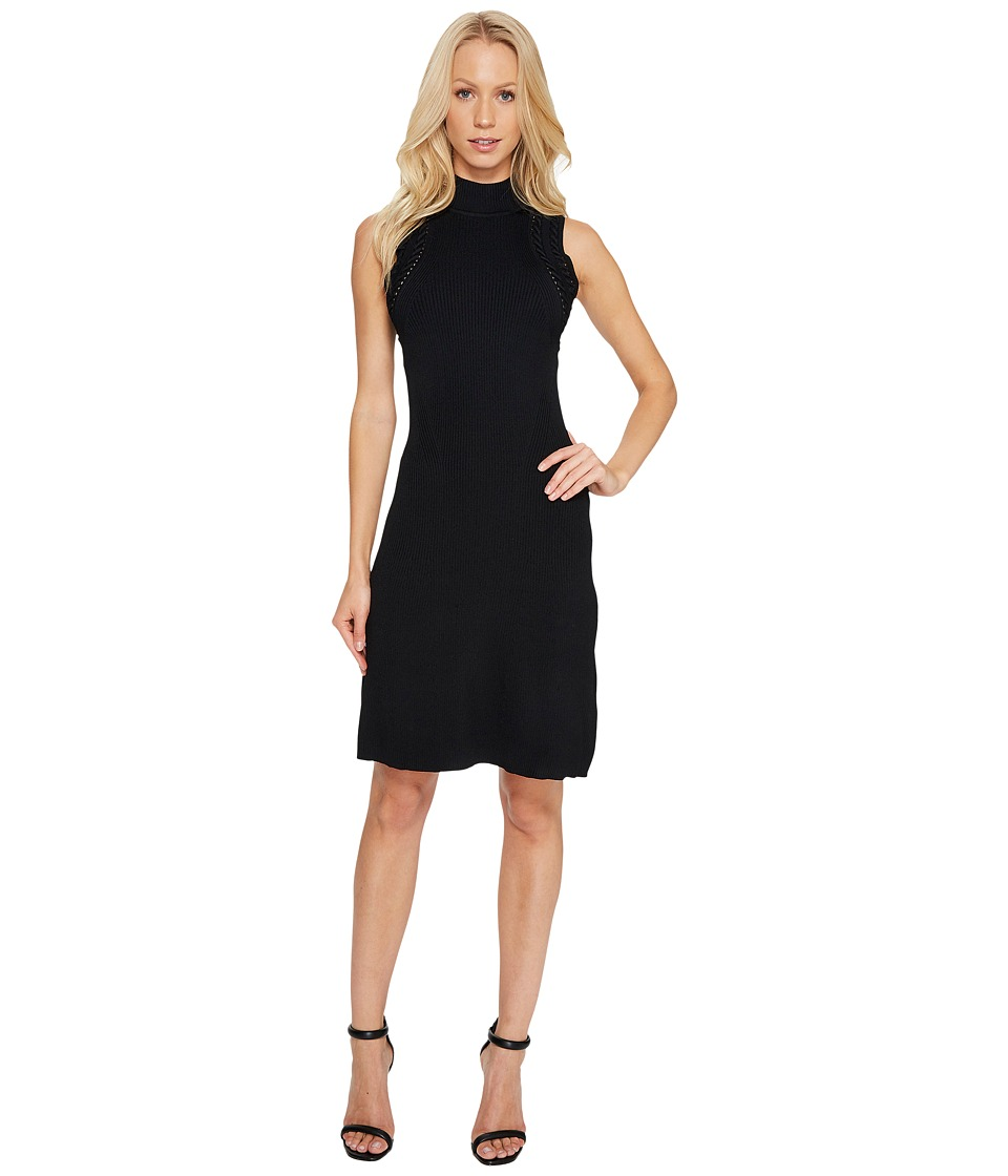 Laundry by Shelli Segal A-Line Dress with Cut Out Back Detail (Black) Women