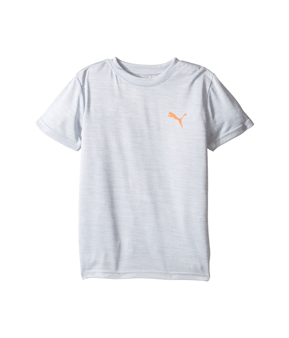 Puma Kids - Logo Heather Tee (Little Kids/Big Kids) (Tin Heather Grey) Boy's T Shirt