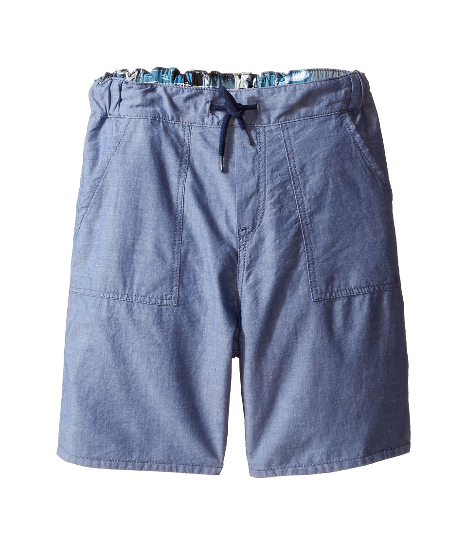Paul Smith Junior - Bike/Chambray Reversible Shorts (Big Kids) (Chambray Blue) Boy's Shorts