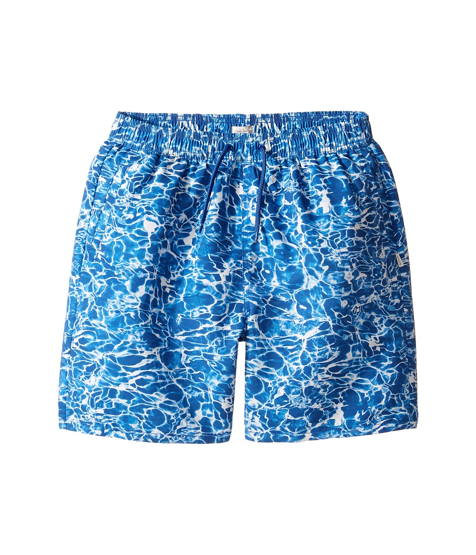 Paul Smith Junior - Pool All Over Printed Swim Trunk (Big Kids) (Deep Blue) Boy's Swimwear