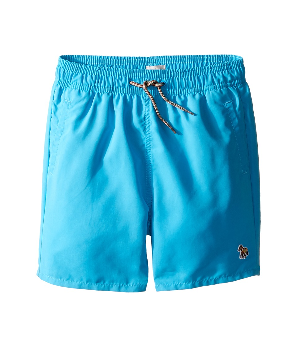 Paul Smith Junior - Turquoise Swim Shorts with Dino Appearing When Wet (Big Kids) (Azur Blue) Boy's Swimwear