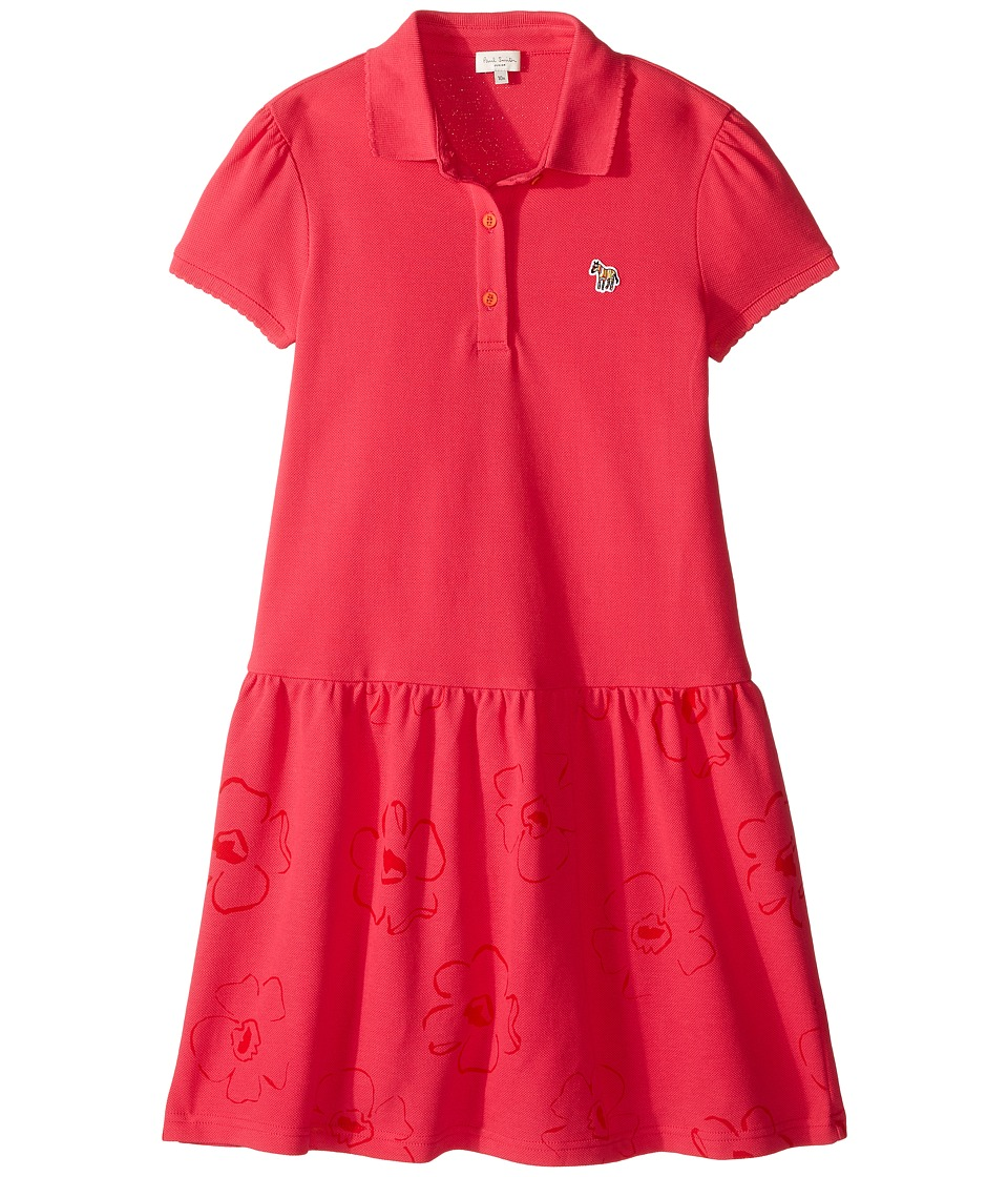 Paul Smith Junior - Fuchsia Polo Dress (Big Kids) (Raspberry) Girl's Dress