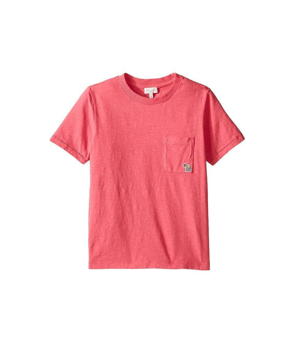Paul Smith Junior - Short Sleeve Fuchsia Tee with Pocket (Big Kids) (Raspberry) Girl's T Shirt