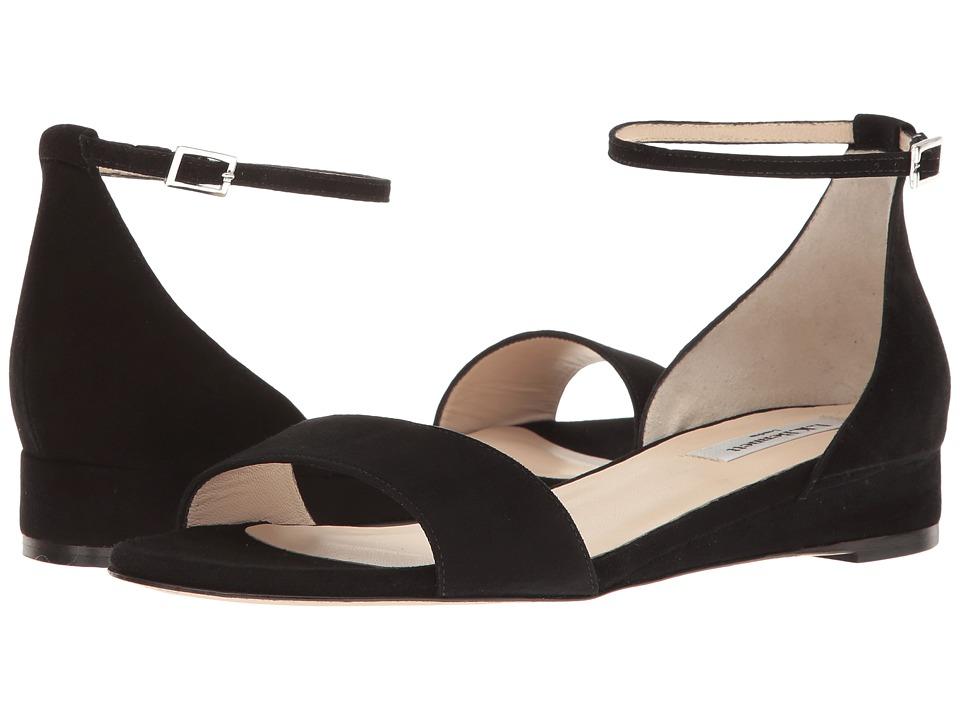 L.K. Bennett - Cai (Black Suede) Women's Sandals