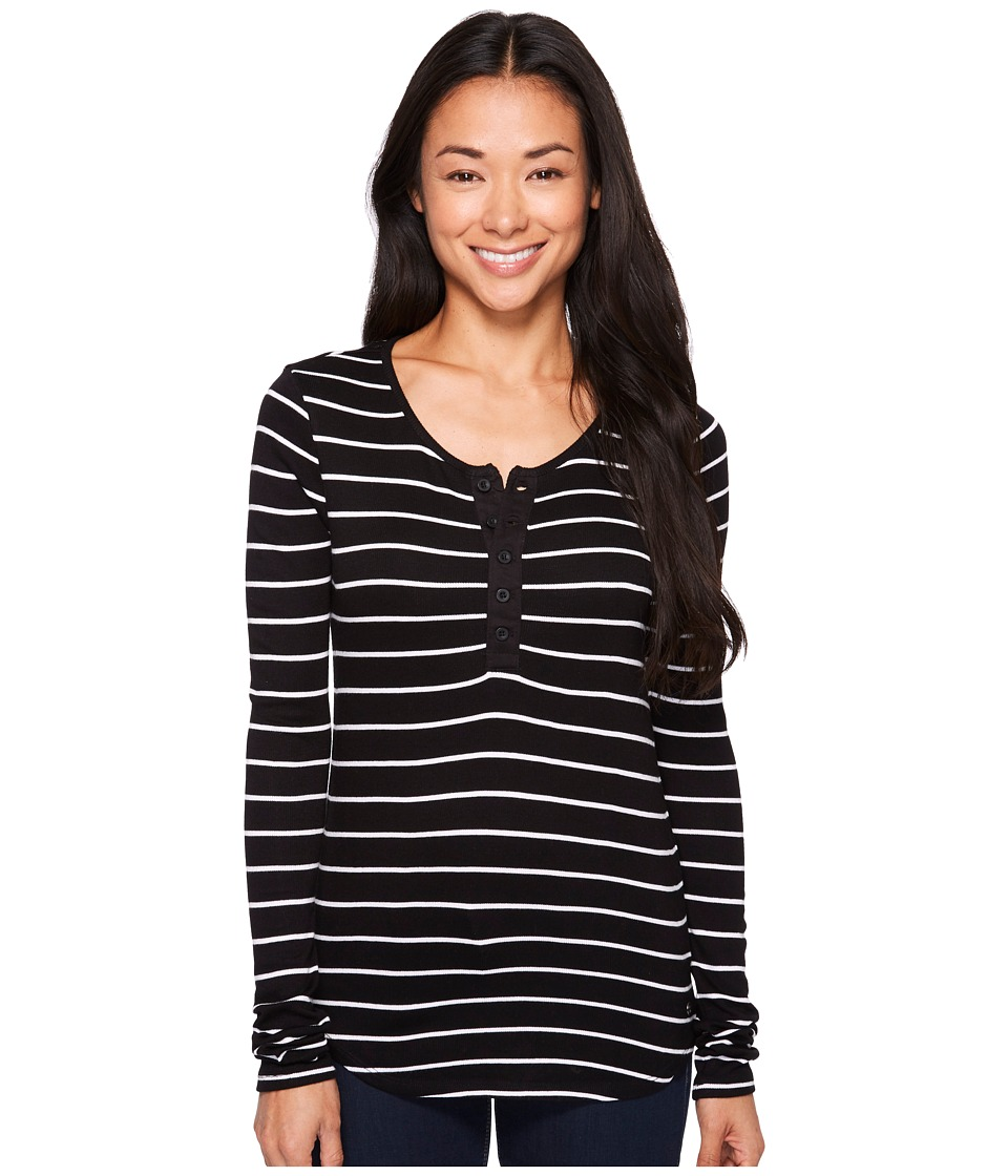 Volcom - First Place Henley (Black Combo) Women's Long Sleeve Pullover