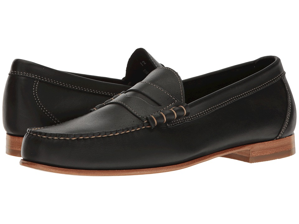 G.H. Bass & Co. - Lambert Weejuns (Black Burnished Full Grain) Men's Slip-on Dress Shoes