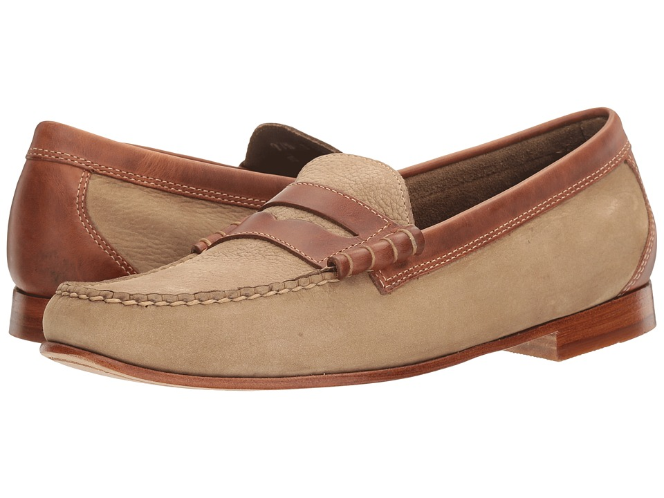 G.H. Bass & Co. - Lambert Weejuns (Taupe/Dark Tan Nubuck) Men's Slip-on Dress Shoes