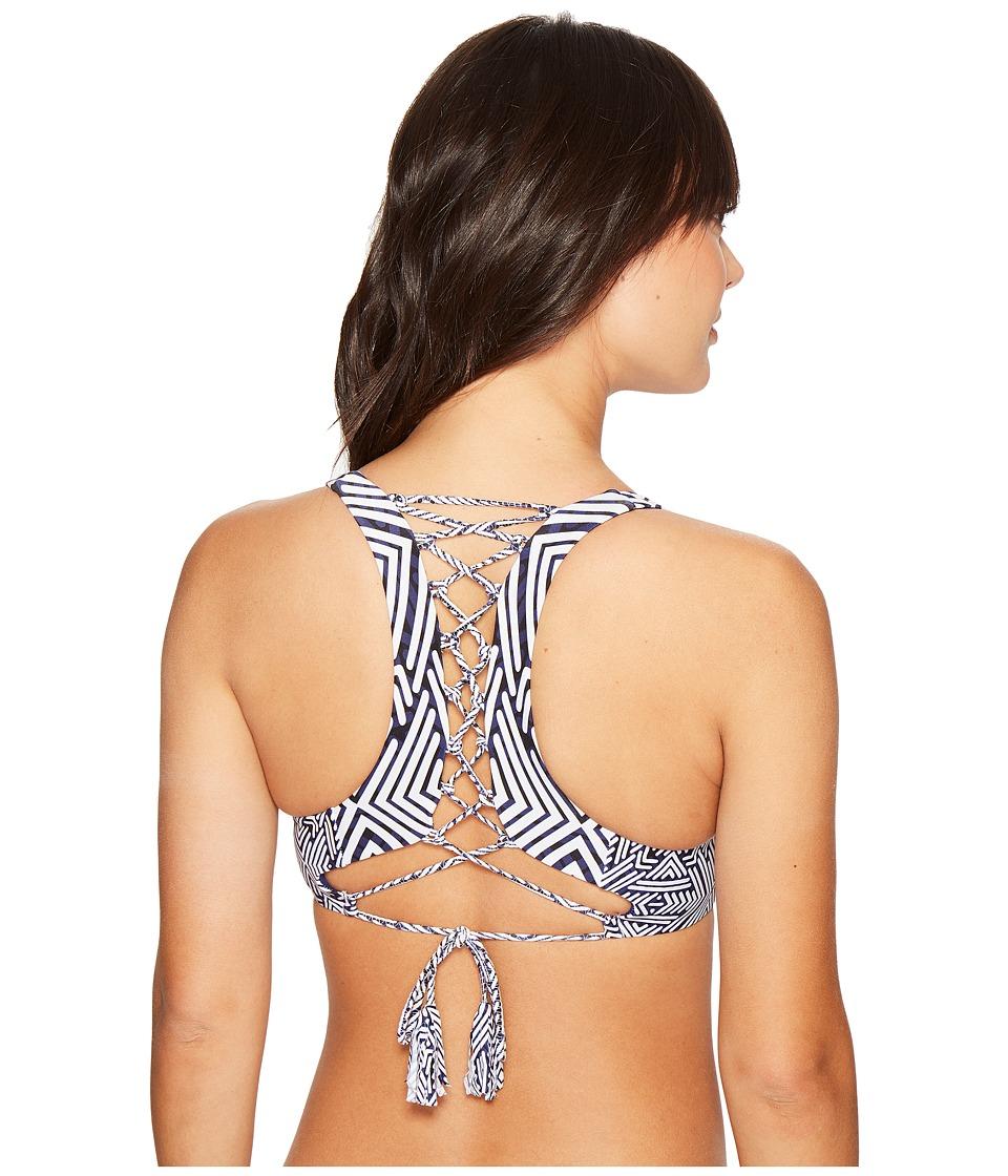 Red Carter - Azteca Lace-Up Back Tank Bra (Navy) Women's Swimwear