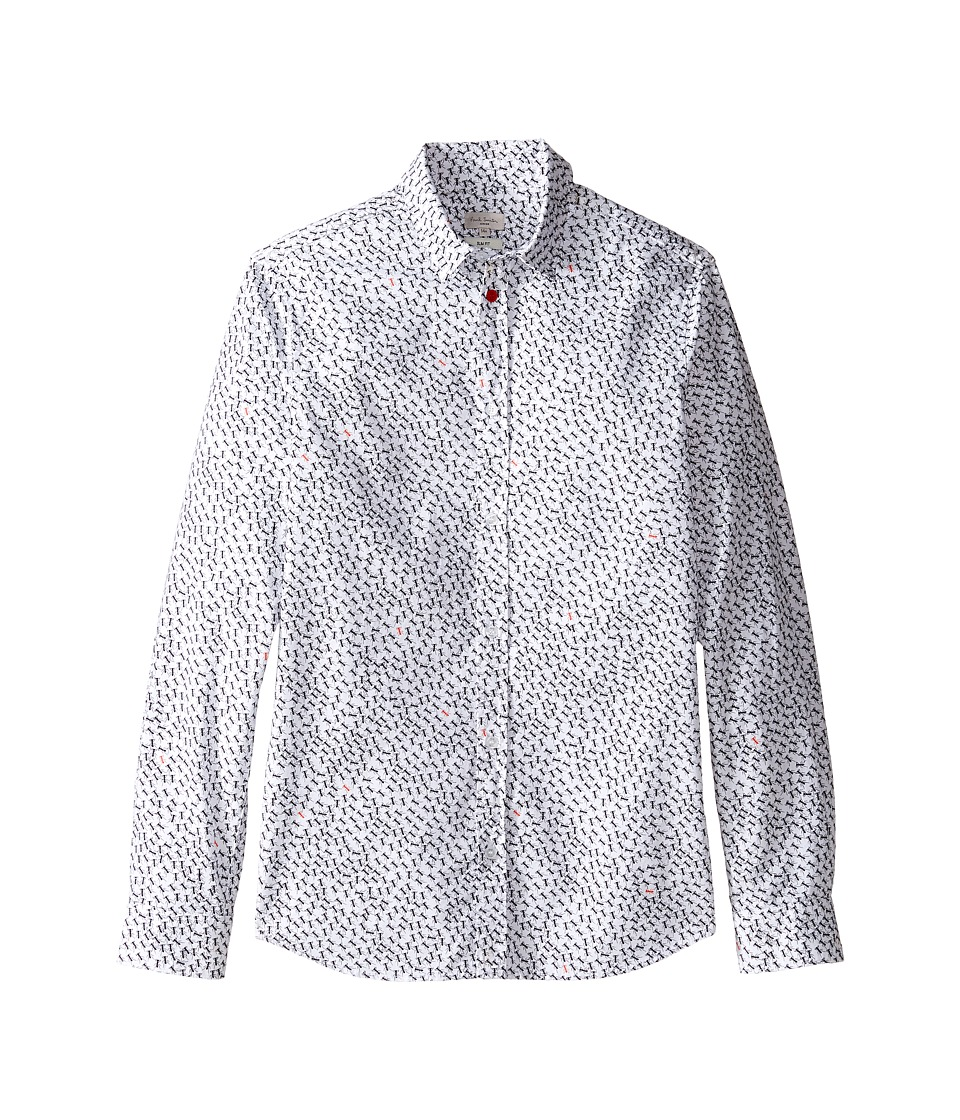 Paul Smith Junior - Shirt with Small Ants (Big Kids) (White) Boy's Clothing