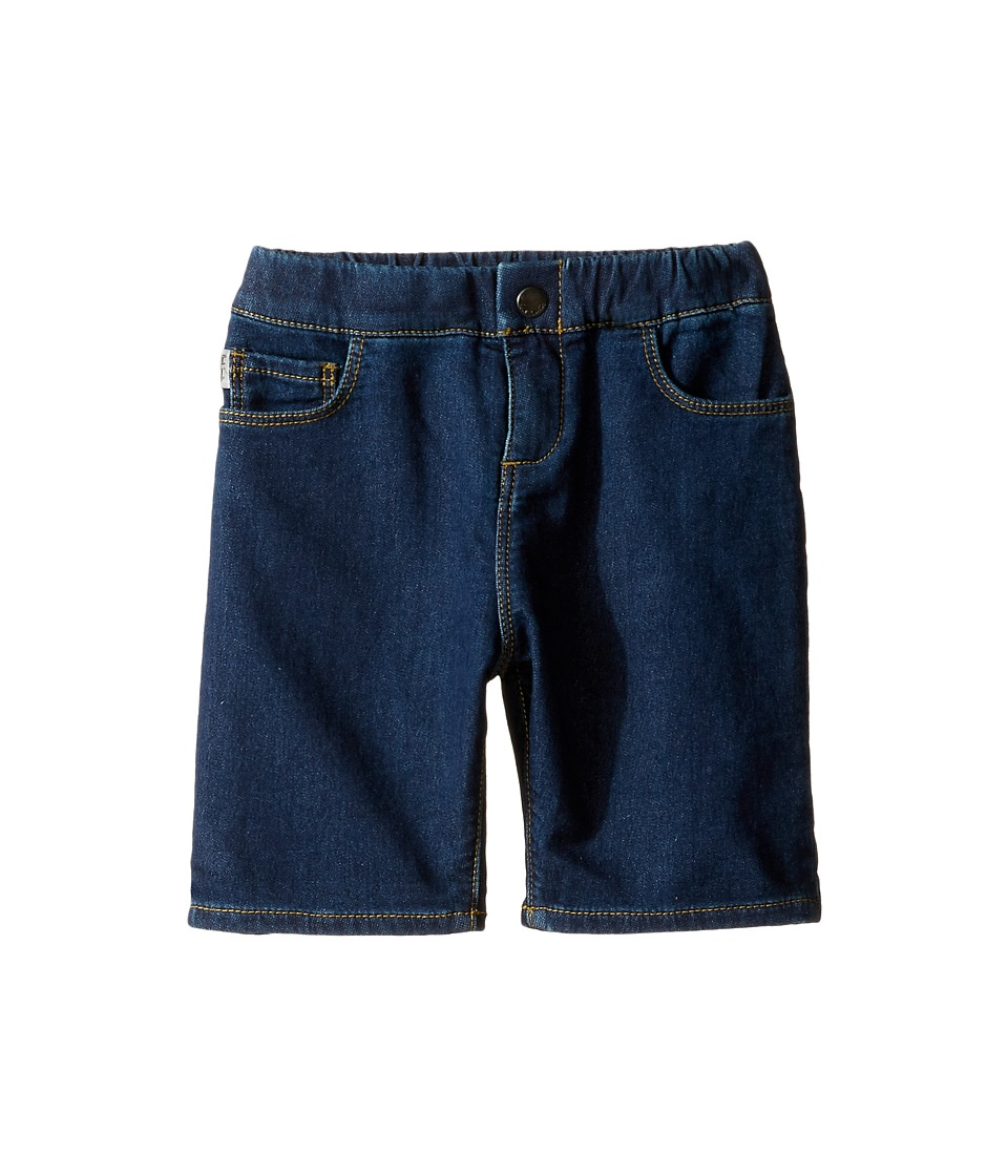 Paul Smith Junior - Fleece Denim Shorts (Toddler/Little Kids) (Navy) Boy's Shorts