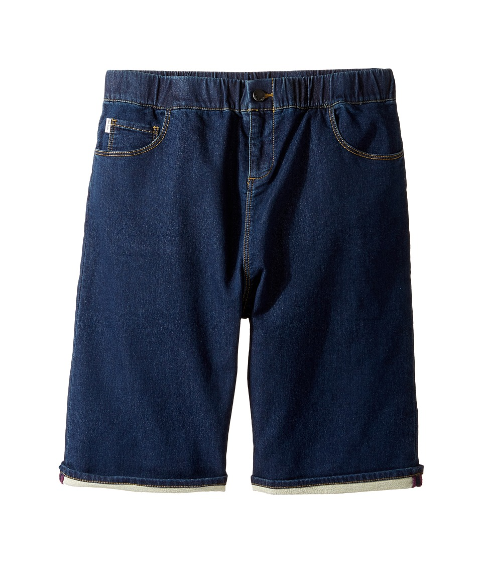 Paul Smith Junior - Fleece Denim Shorts (Big Kids) (Navy) Boy's Shorts