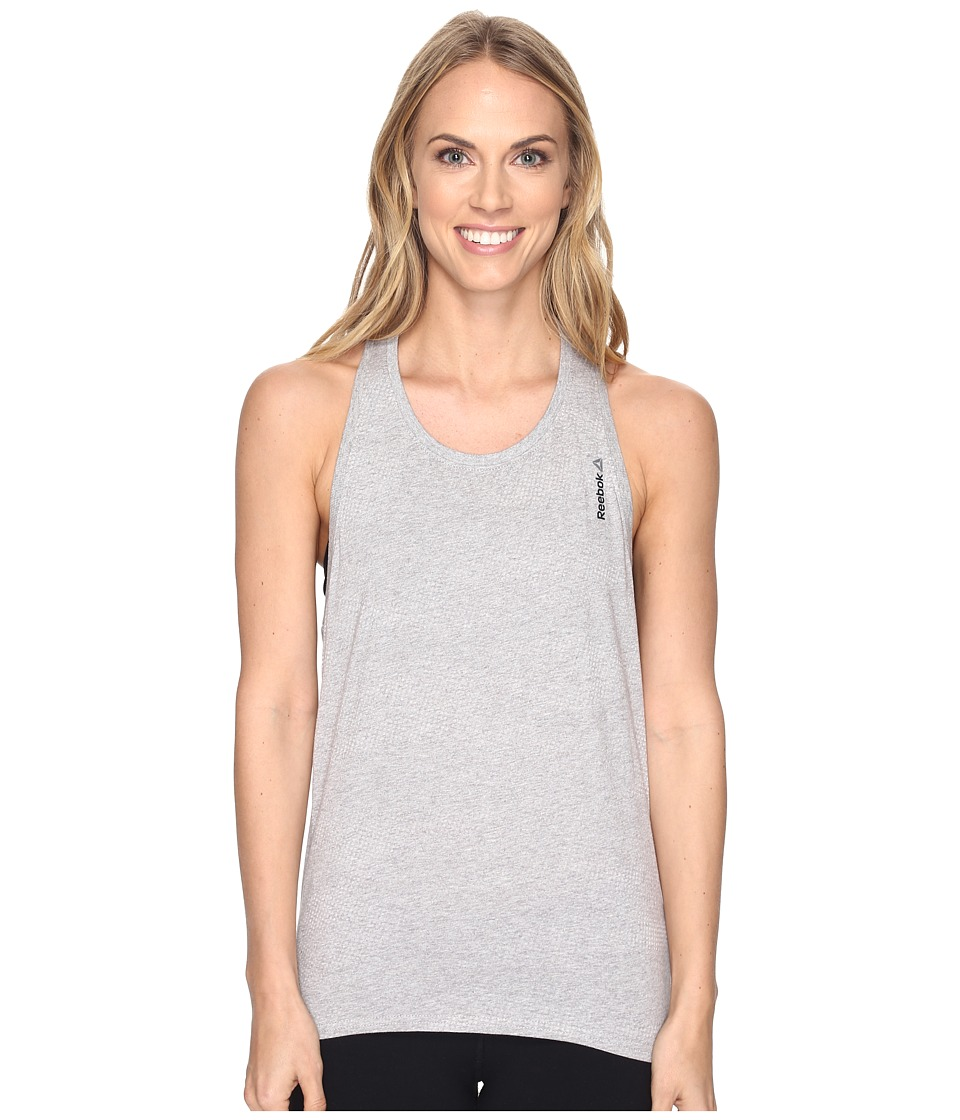 Reebok - Elements Burnout Tank Top (Grey) Women's Sleeveless