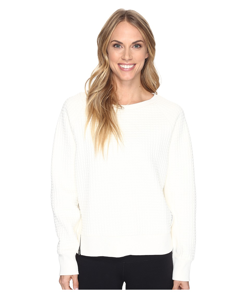 Reebok - Elements Quilted Crew Sweatshirt (Chalk) Women's Sweatshirt