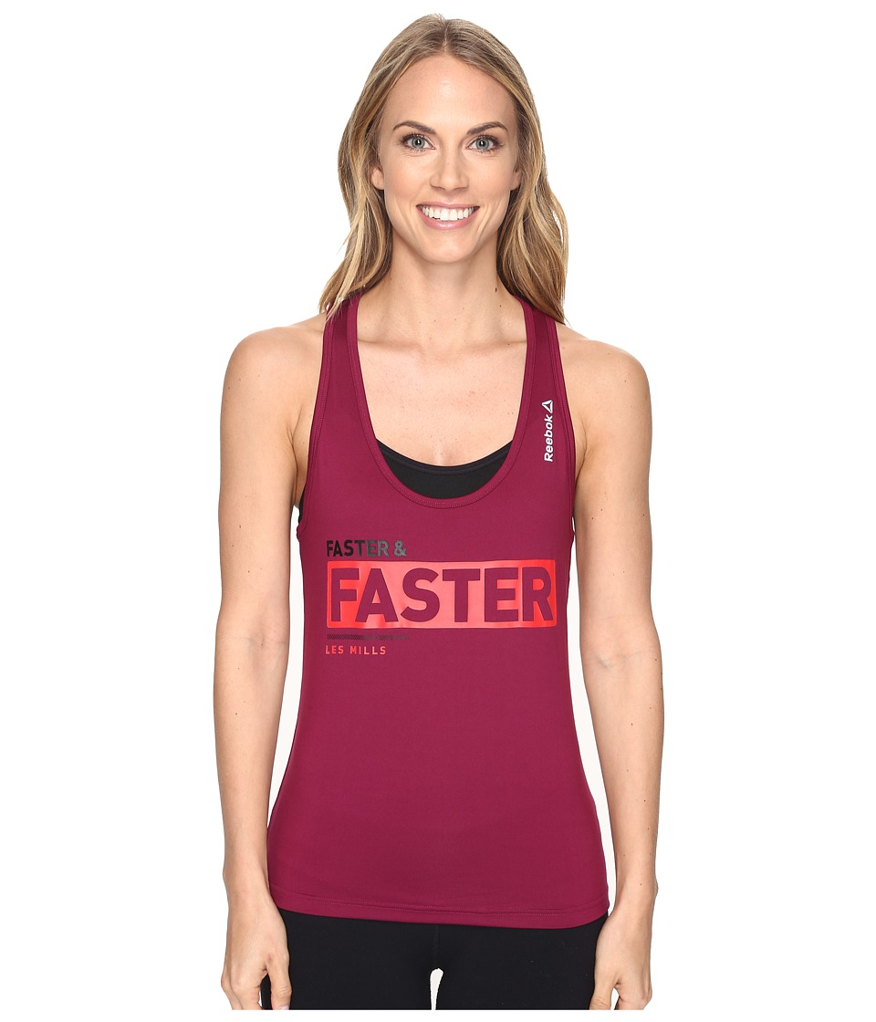 Reebok - LM Fitted Racerback Tank Top (Red) Women's Sleeveless