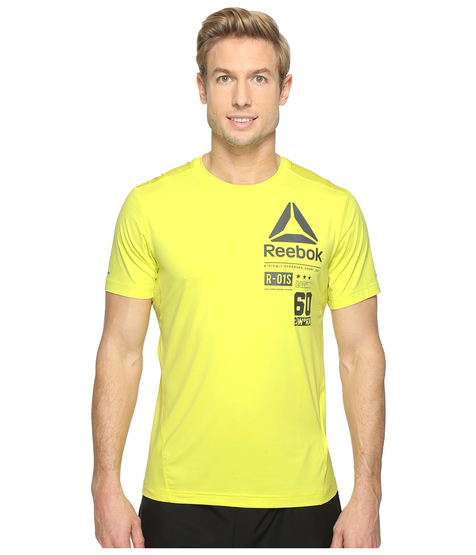 Reebok - One Series Activchill Graphic Top (Yellow) Men's Clothing