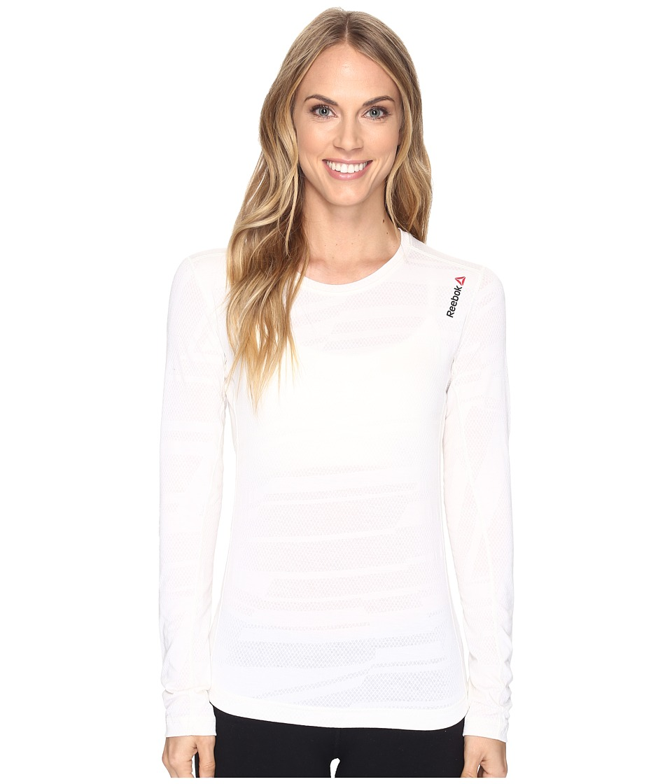 Reebok - One Series Bo Long Sleeve Tee (Chalk) Women's T Shirt