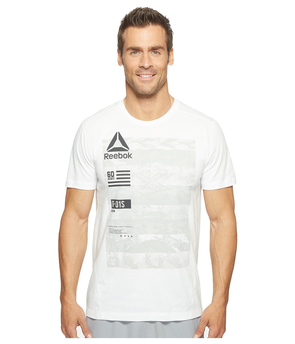 Reebok - One Series Speedwick Top2 (White) Men's Clothing