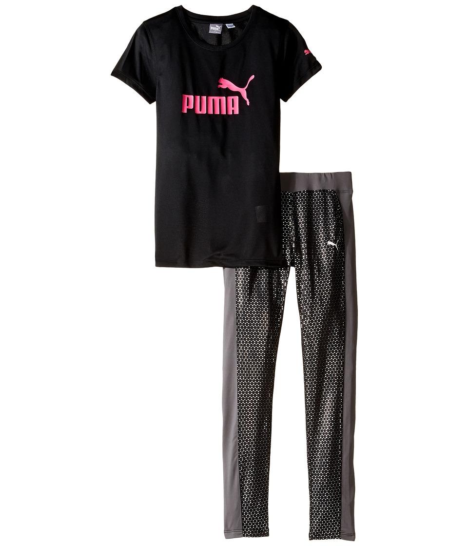 Puma Kids - Pants and Tee Set (Big Kids) (PUMA Black) Girl's Active Sets