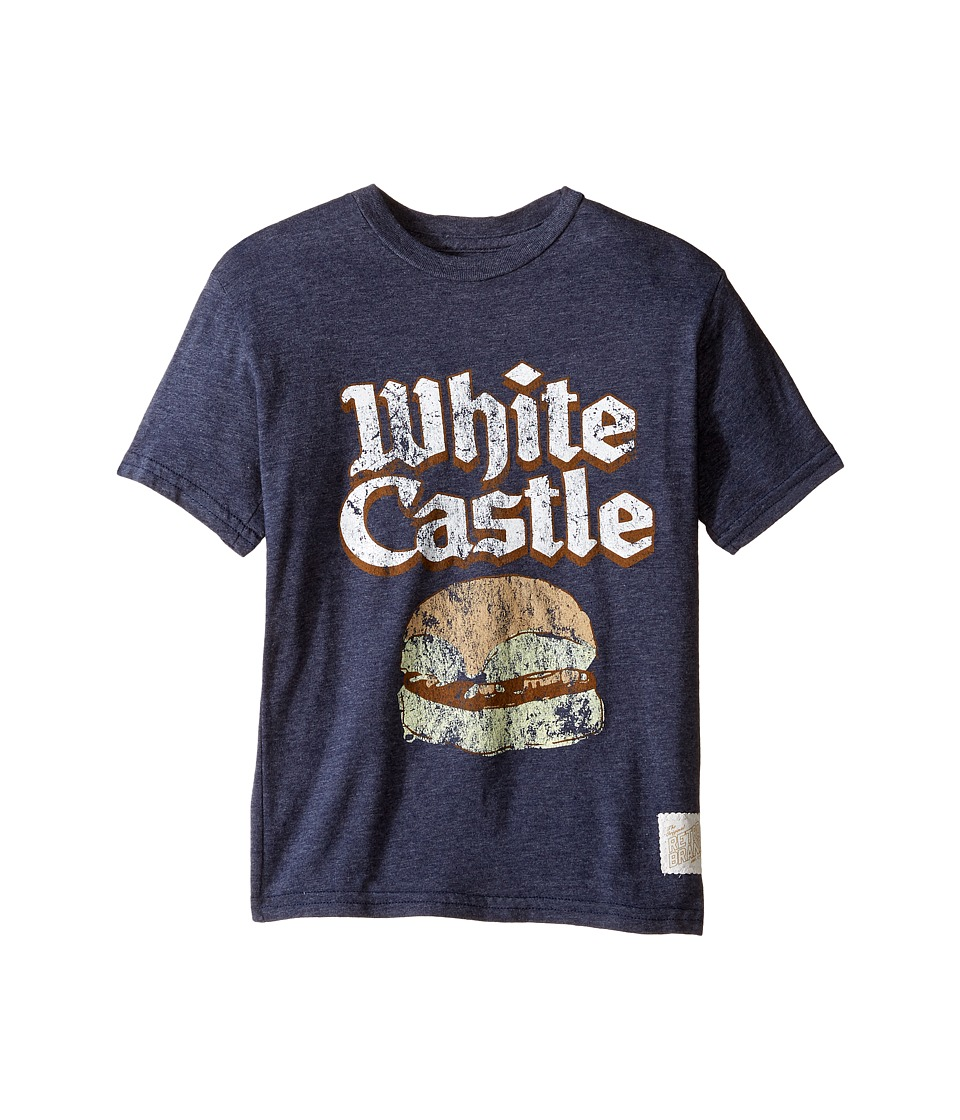The Original Retro Brand Kids - Short Sleeve Tri-Blend White Castle Tee (Big Kids) (Streaky Navy) Boy's T Shirt
