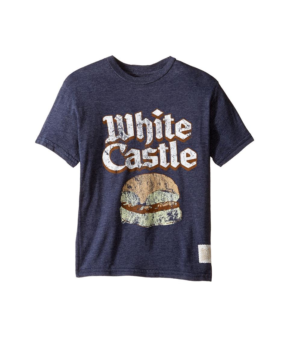 The Original Retro Brand Kids - Short Sleeve Tri-Blend White Castle Tee (Big Kids) (Streaky Navy) Boy's T Shirt