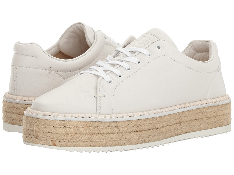 rag & bone - Kent Espadrille (White Leather) Women's Shoes