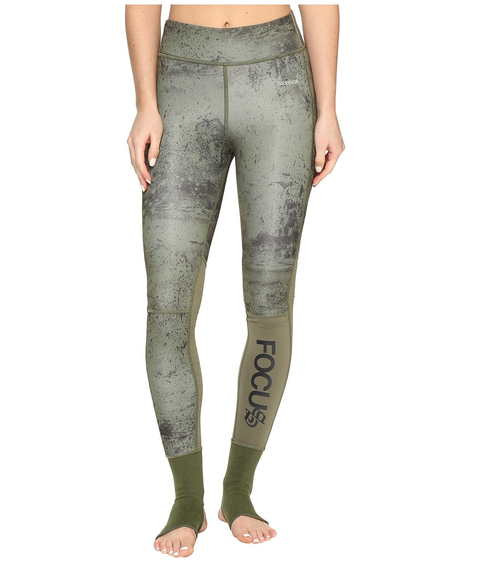 Reebok - Noble Fight Ankle Lock Tights (Canopy Green) Women's Workout